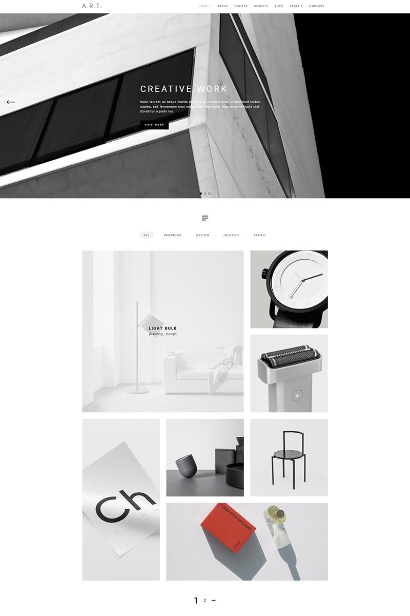Reszponzív Art - Minimal Portfolio & Photography WordPress sablon 68265