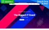 Reszponzív Eventex - Corporate Event Nyítóoldal sablon New Screenshots BIG