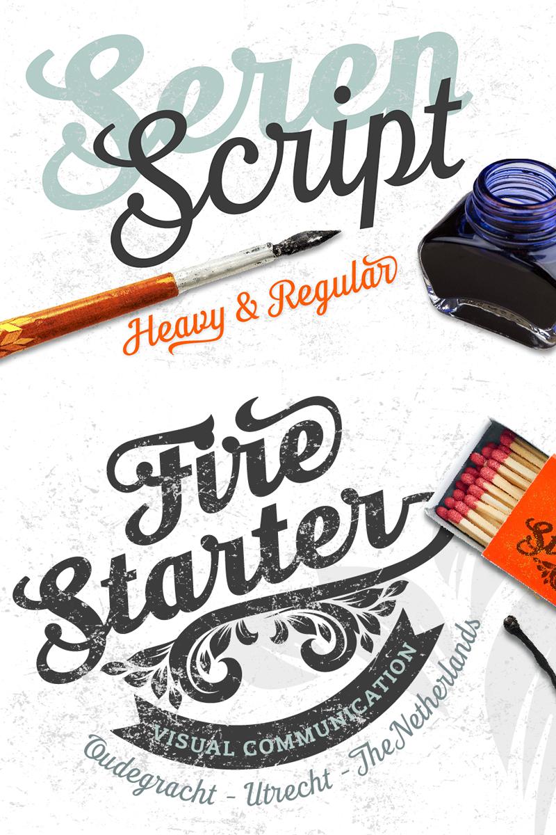 """""""Seren Script -"""" Lettertype №68276"""