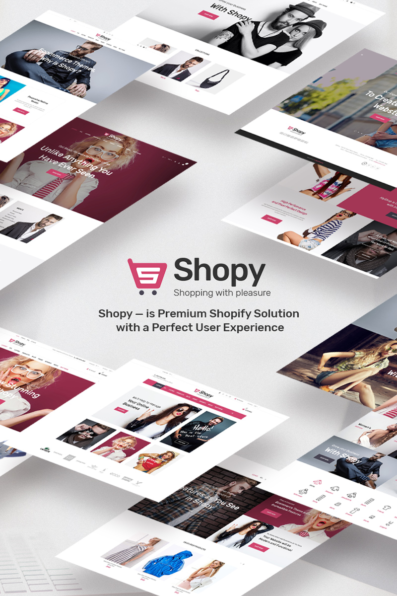 """Shopy Fashion"" Responsive Shopify Thema №68259"