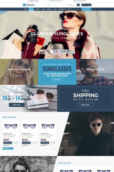 Tema De PrestaShop #68285 para Sitio de  para Sitio de Gafas