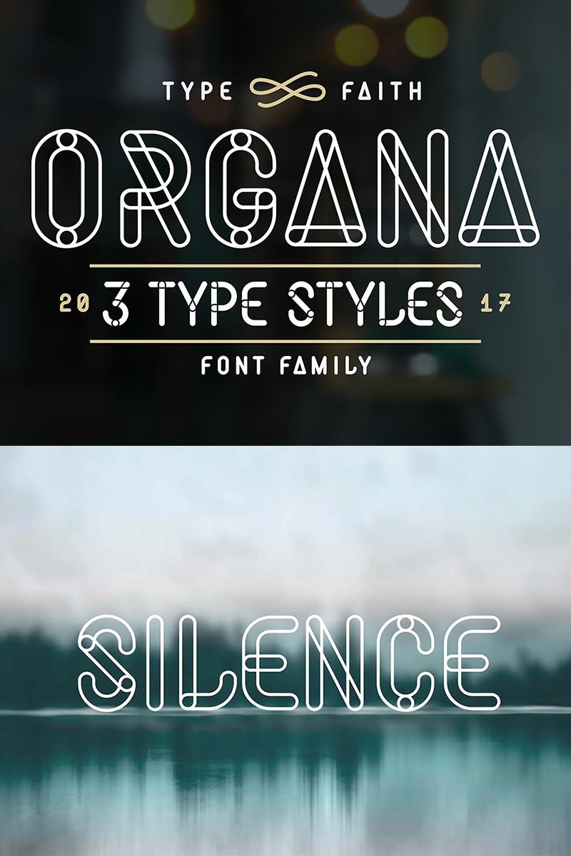 """Template Font #68275 """"Organa -"""""""