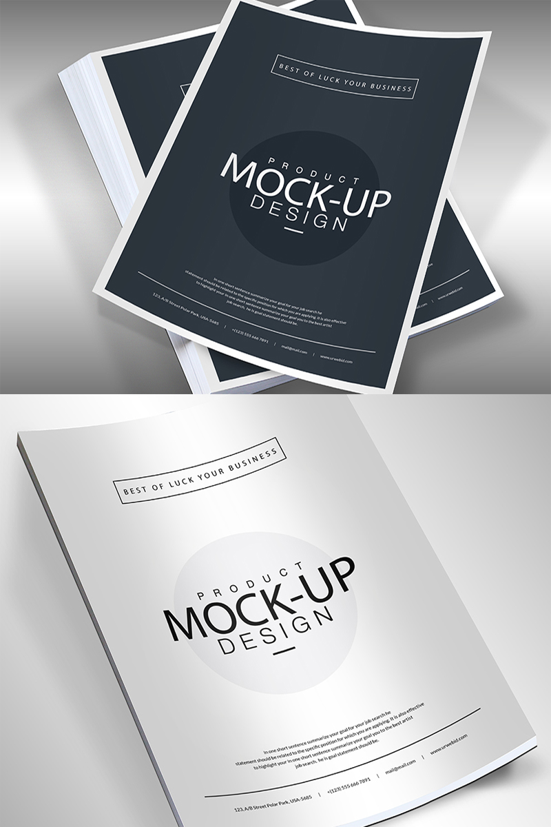 "Template Mockup del prodotto #68287 ""A4 Template Flyer -"" - screenshot"
