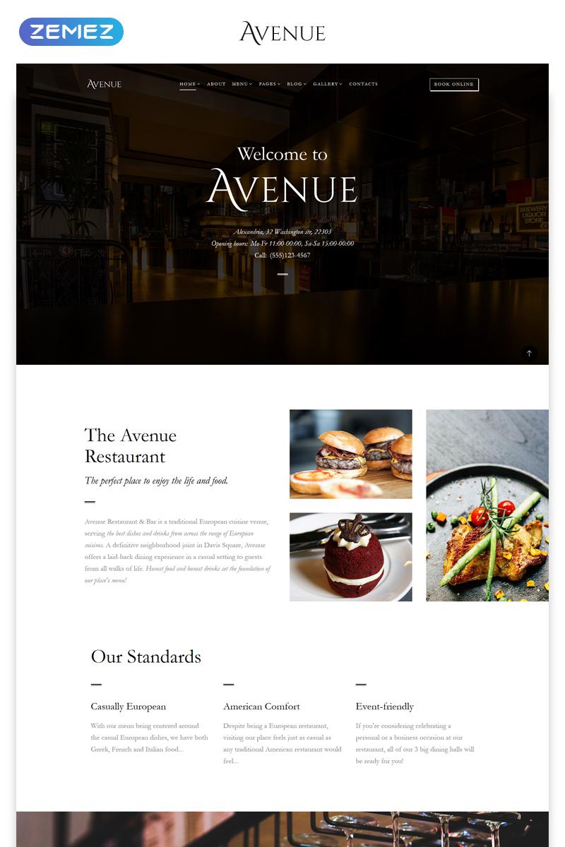 Template siti web 68272 per un sito di steak house for Siti web di home plan