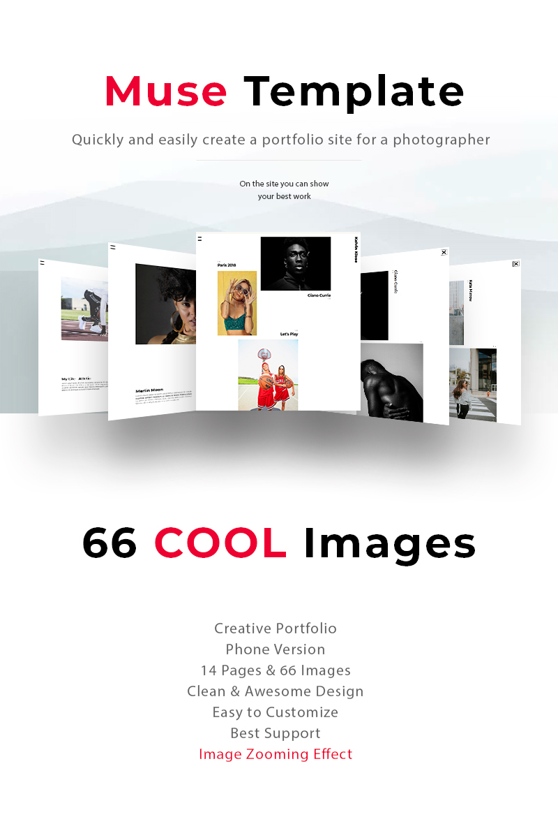 """The best portfolio of photographer Kelvin"" - Muse шаблон №68284"