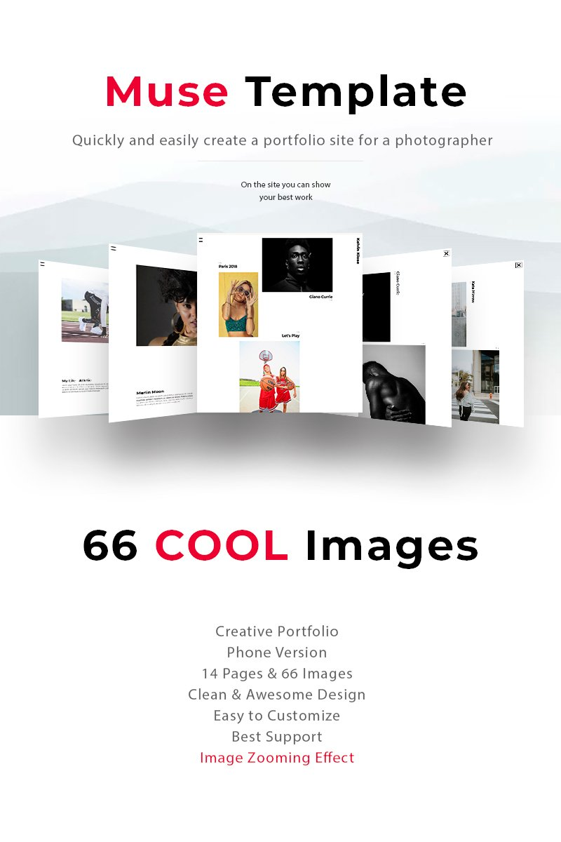 The best portfolio of photographer Kelvin Muse Template - screenshot