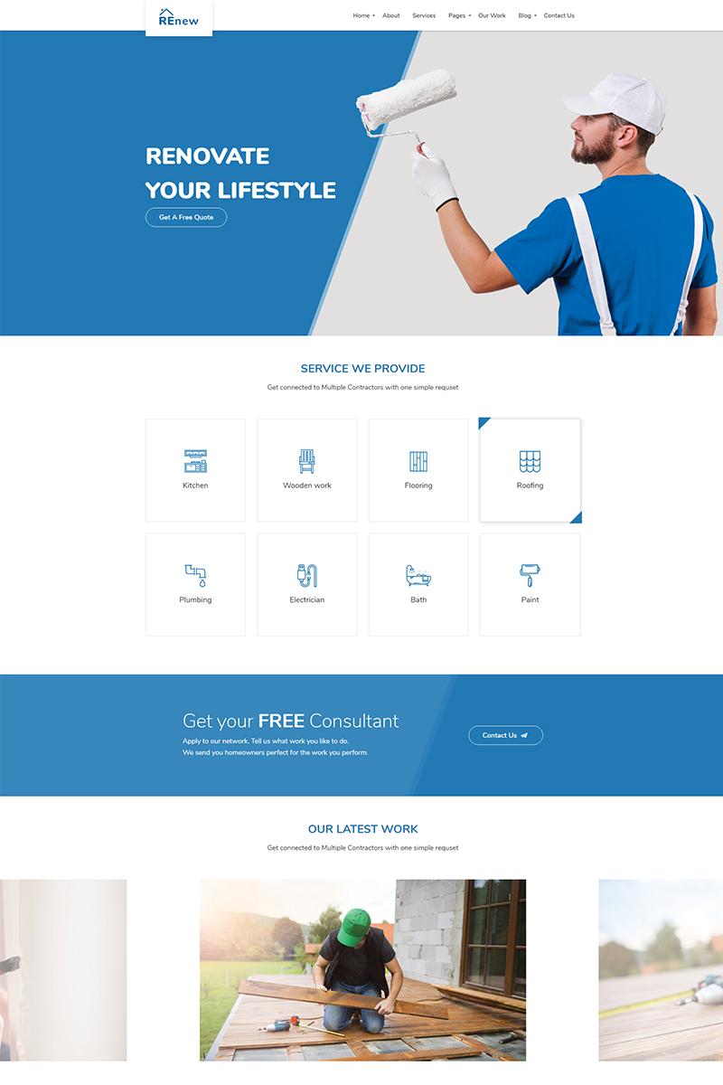 "Website Vorlage namens ""Ligothemes - Renew Multi-Purpose"" #68295 - Screenshot"
