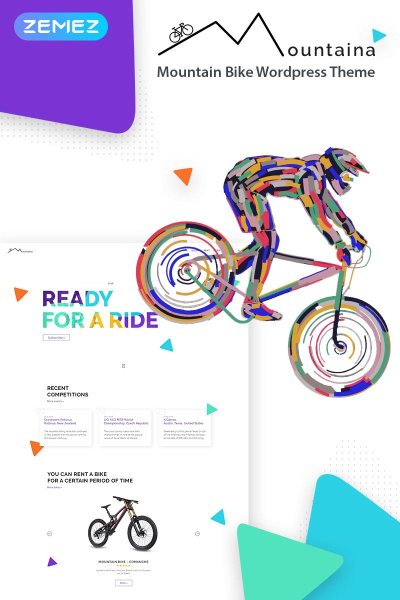 """WordPress Theme namens """"Montaina - Mountain Bikes"""" #68297"""