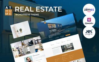 At Home - Real Estate WordPress Elementor Theme