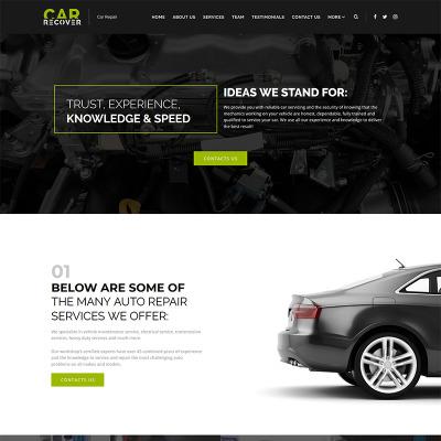 Thème WordPress adaptatif  pour site de réparation de voitures