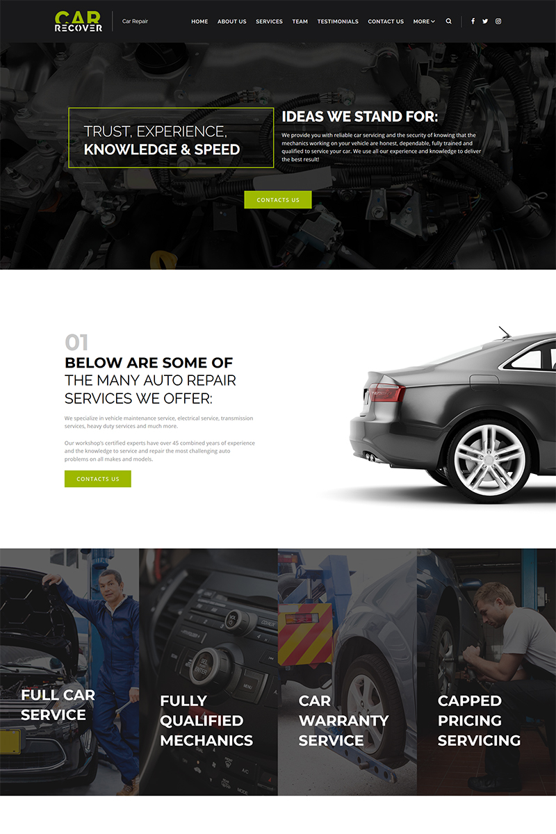Car Recover - Car Repair Responsive WordPress Theme