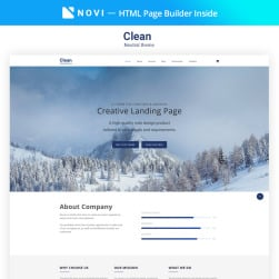 Garry responsive business html landing page template 68698 clear simple creative agency html with novi builder maxwellsz