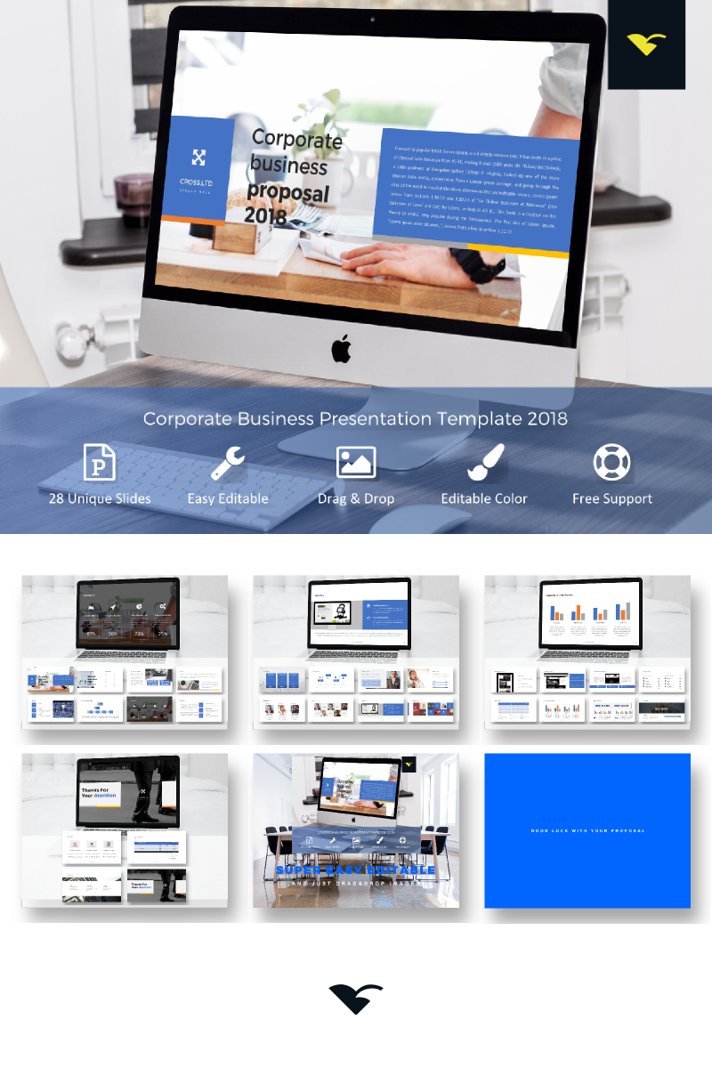 """""""Corporate Business Proposal -"""" PowerPoint Template №68316"""
