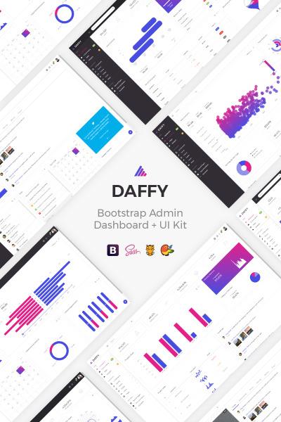 Daffy - Multipurpose Bootstrap + UI Kit Admin Template #68384