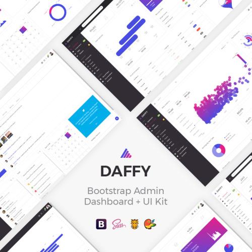Daffy - Multipurpose Bootstrap + UI Kit - Admin Template based on Bootstrap