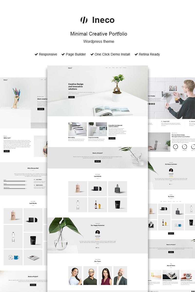 """Ineco Minimal Creative Portfolio"" - адаптивний WordPress шаблон №68323 - скріншот"