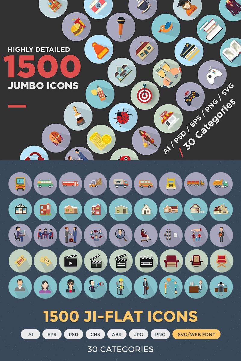 """Jumbo Flat Icons Pack"" 图标集模板 #68312"