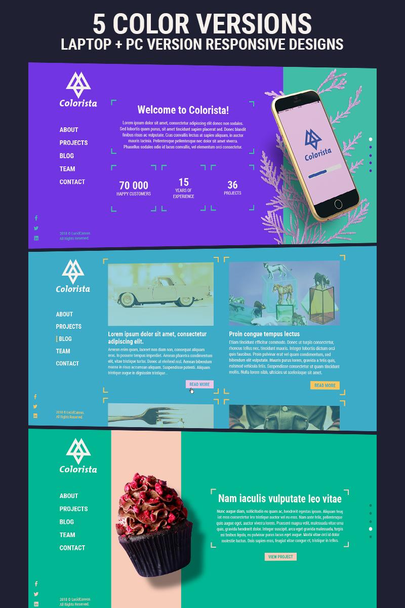 Responsive Colorista - Corporate Business / Portfolio Responsive Website Psd #68346