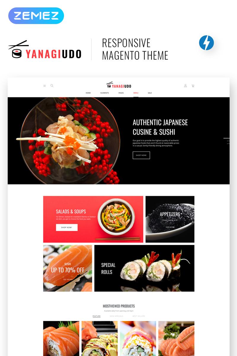 Responsivt YanagiUdo - Japanese Restaurant Magento-tema #68325
