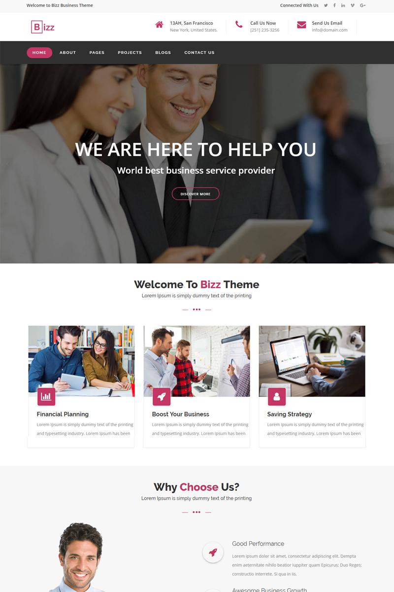 """Šablona webových stránek """"Bizz - Business & Corporate HTML Website Template"""" #68329"""