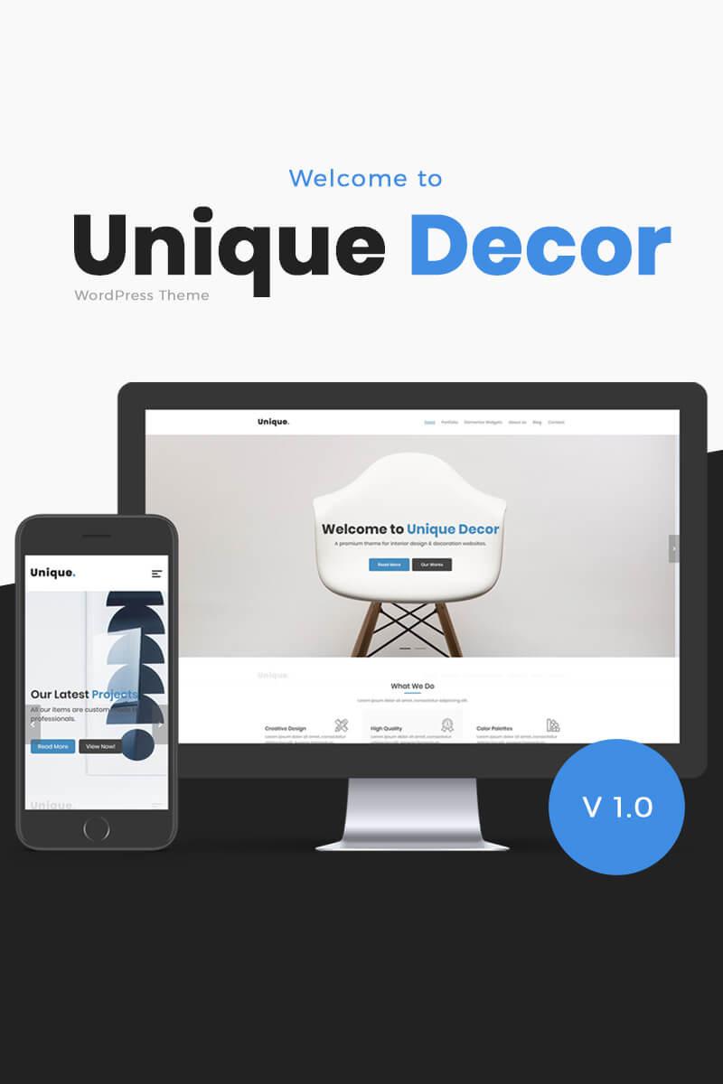 Unique Decor   Interior Design. WPML Ready WordPress Theme ...