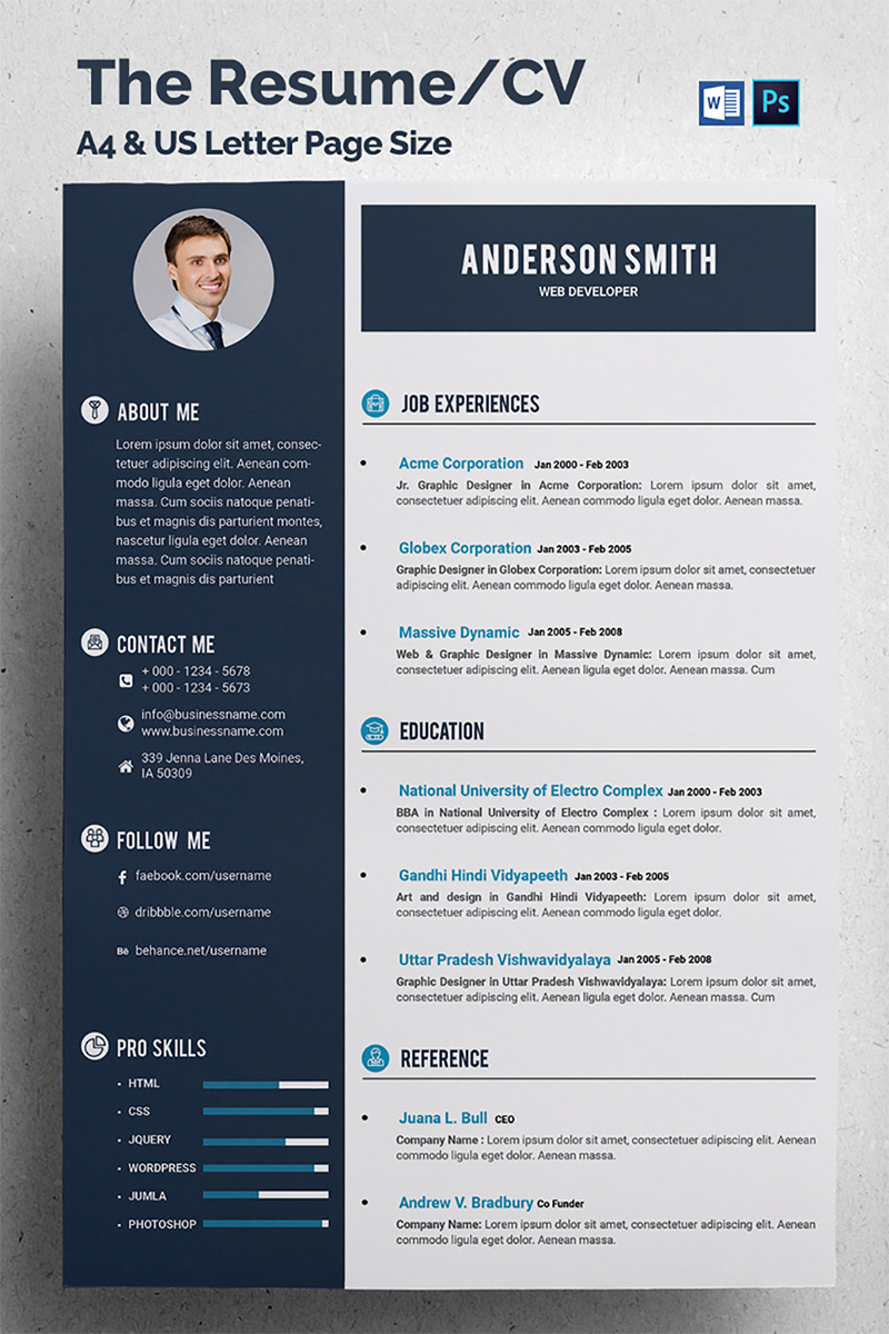 u0026quot web developer cv u0026quot  cv template  u211668317