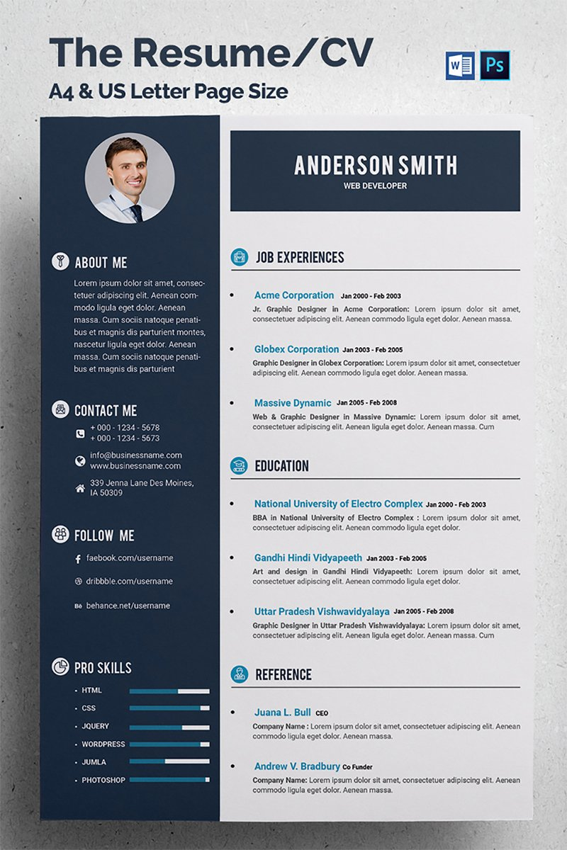 web developer resume template web developer cv resume template 68317 17096 | web developer cv resume template 68317 big