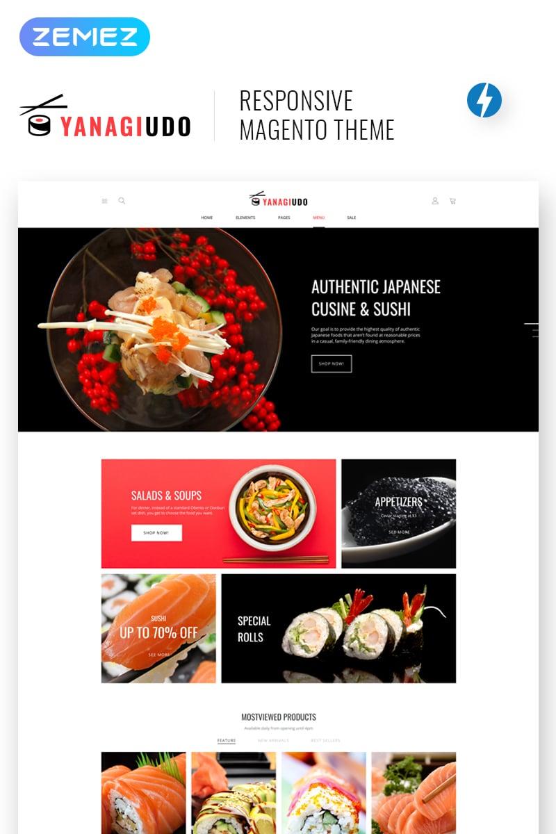 """YanagiUdo - Japanese Restaurant"" - адаптивний Magento шаблон №68325"