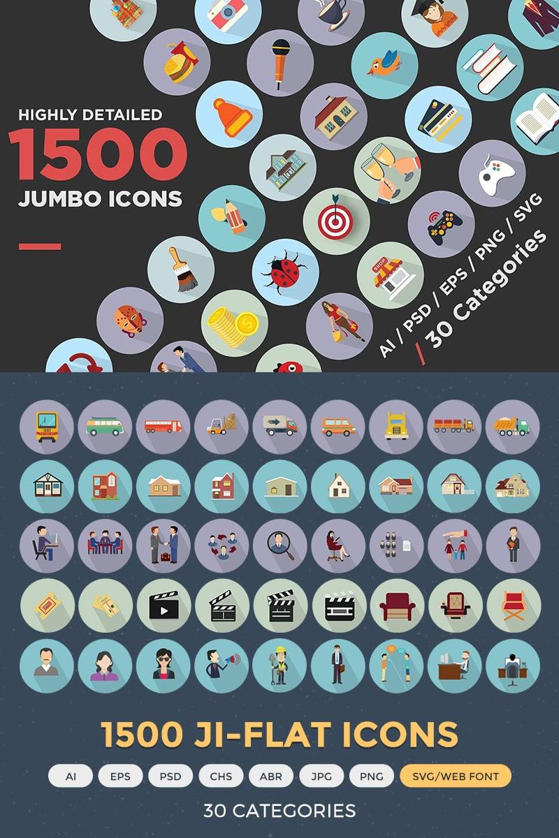 Zestaw Ikon Jumbo Flat Icons Pack #68312