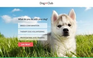 Dog Club - Dog Breeder Compatible with Novi Builder Landing Page Template