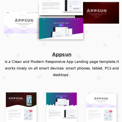Appsun-mob | App Landing Page Website Template #68487