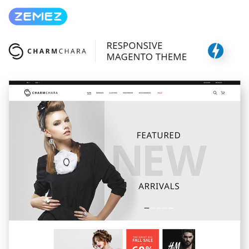CharmChara - Fashion Store - Responsive Magento Template