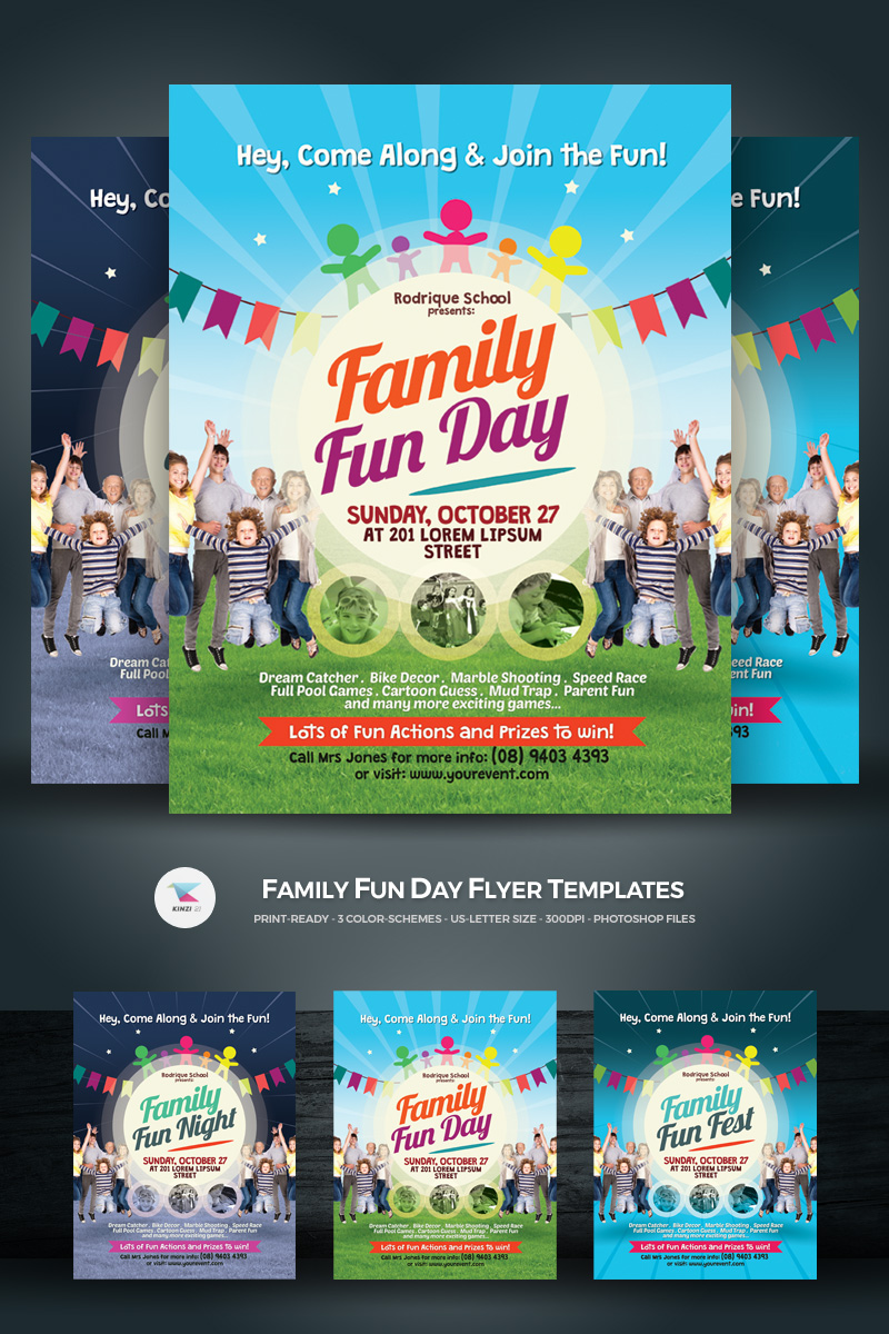 Family Fun Day Flyer Corporate Identity Template - screenshot