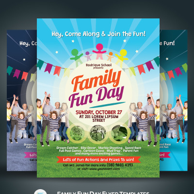 Family Fun Day Flyer Corporate Identity Template 68489
