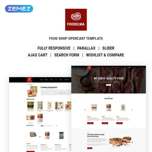 Foodelma - Delicious Food Online Store - OpenCart Template based on Bootstrap