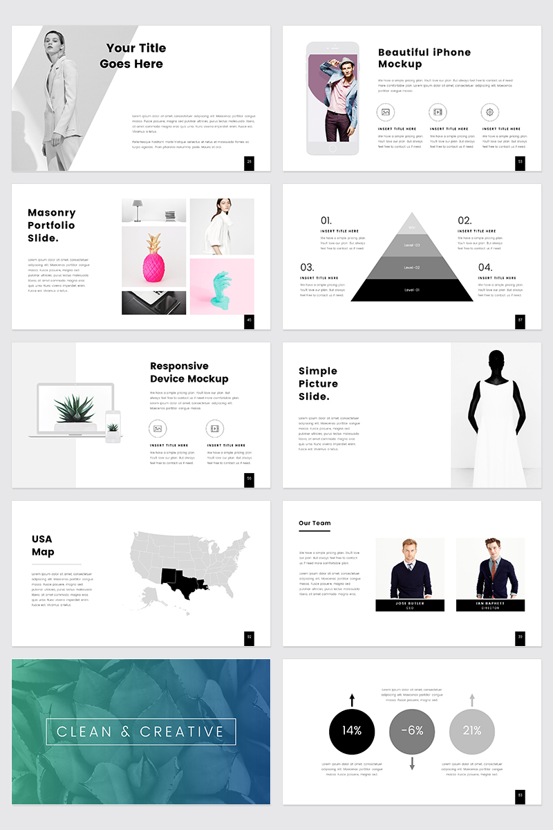 """PROTHOM  Creative and Minimal -"" PowerPoint Template №68463"