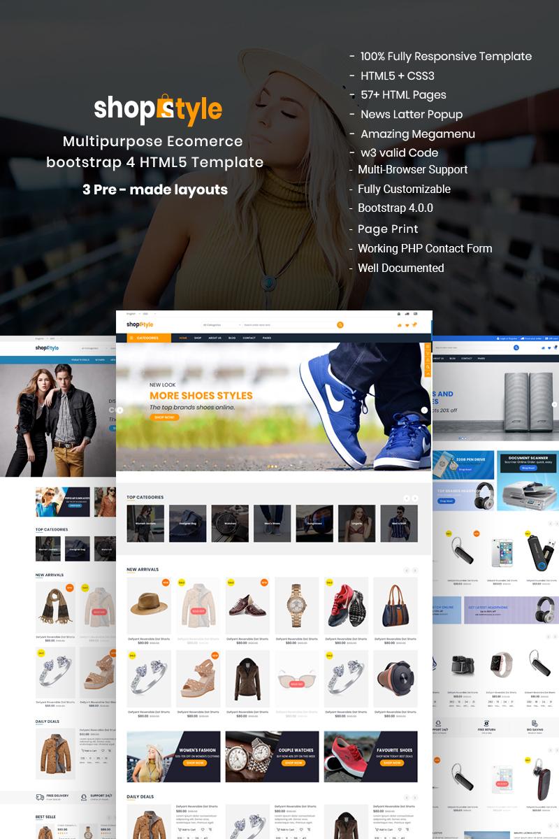 Responsive Shopstyle - Responsive Multipurpose E-Commerce HTML5 Web Sitesi #68404