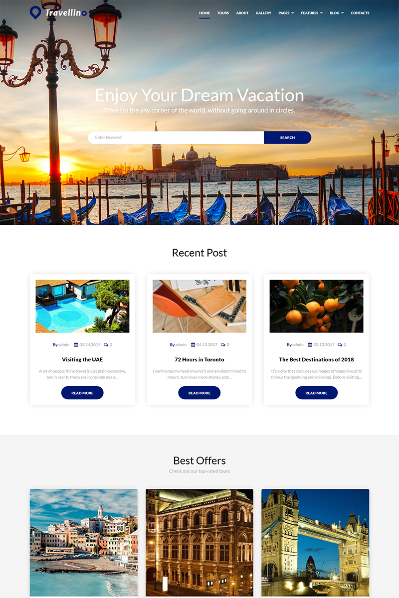 Responsivt Travellino - Travel Company Elementor WordPress-tema #68464