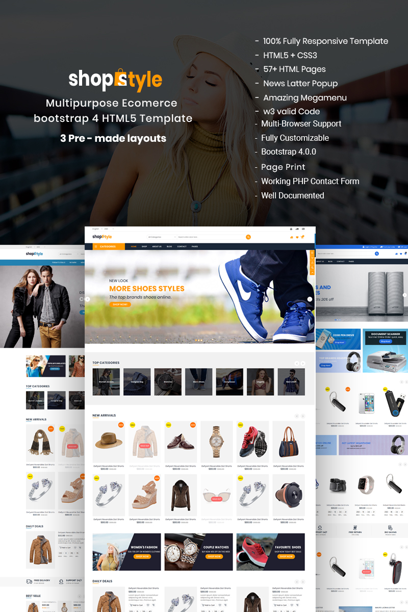 Shopstyle - Responsive Multipurpose E-Commerce HTML5 Website Template