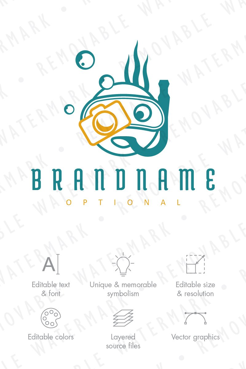 Underwater Photography Logo Template 68409