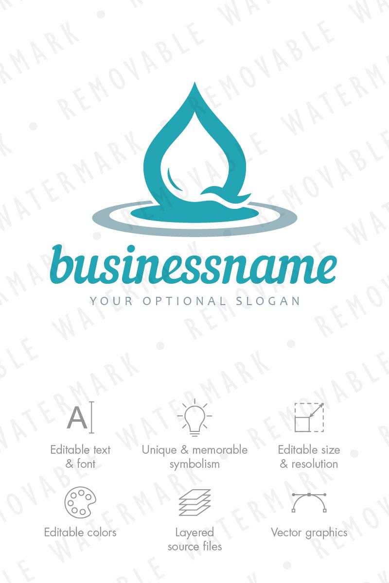 Water Drop Impact Logo Template #68457