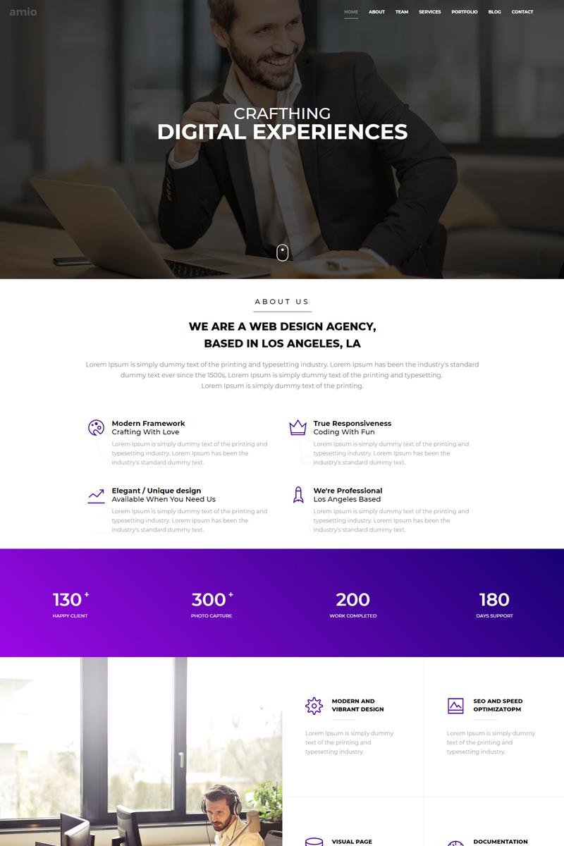 Amio - One Page Parallax №68592
