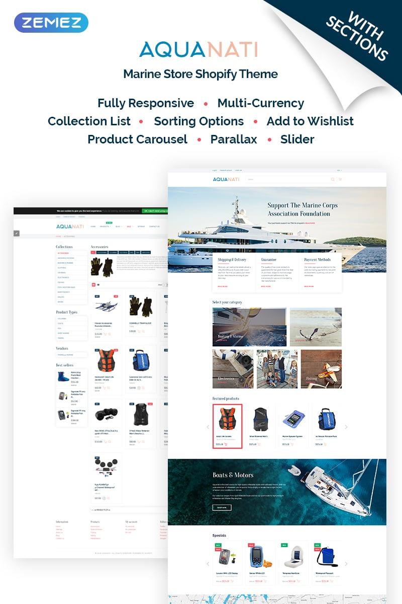 Aquanati - Marine Store Shopify Theme
