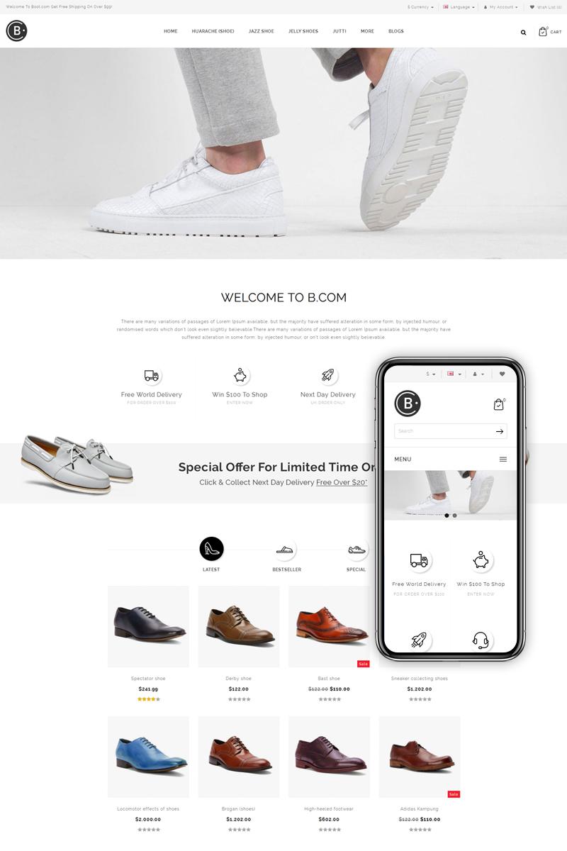 B.Com - Shoes Store OpenCart Template - screenshot