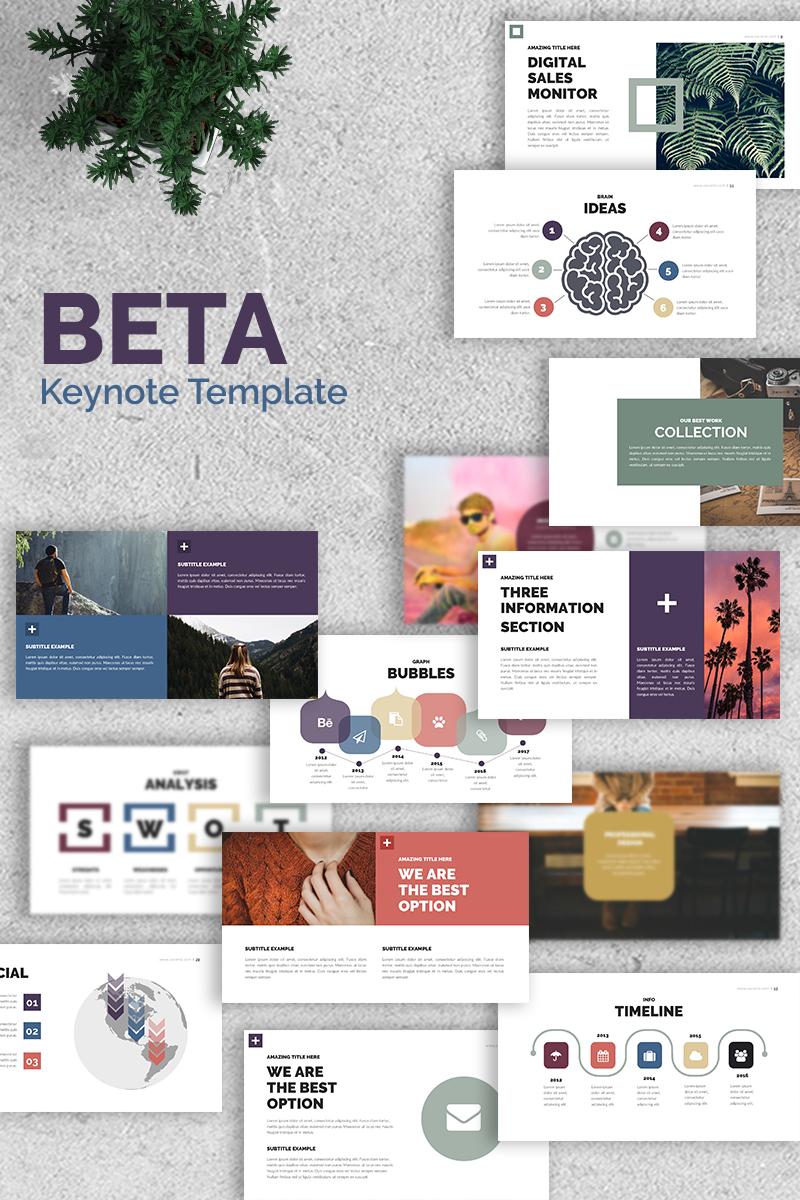 Beta Presentation Keynote Template - screenshot