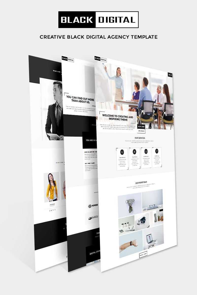 Black Digital - Creative Multipurpose Agency Website Template - screenshot