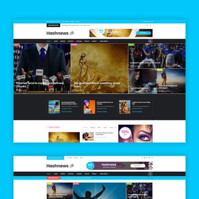 News Portal Šablona Webových Stránek