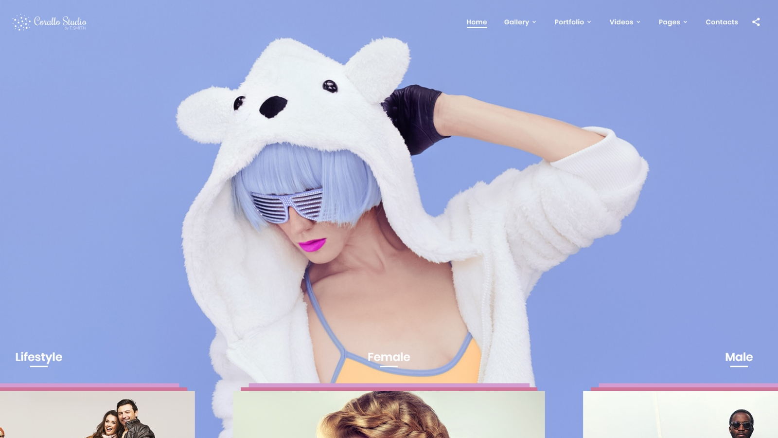 """Corallo Studio - Photographer Portfolio Multipage"" - адаптивний Шаблон сайту №68544"