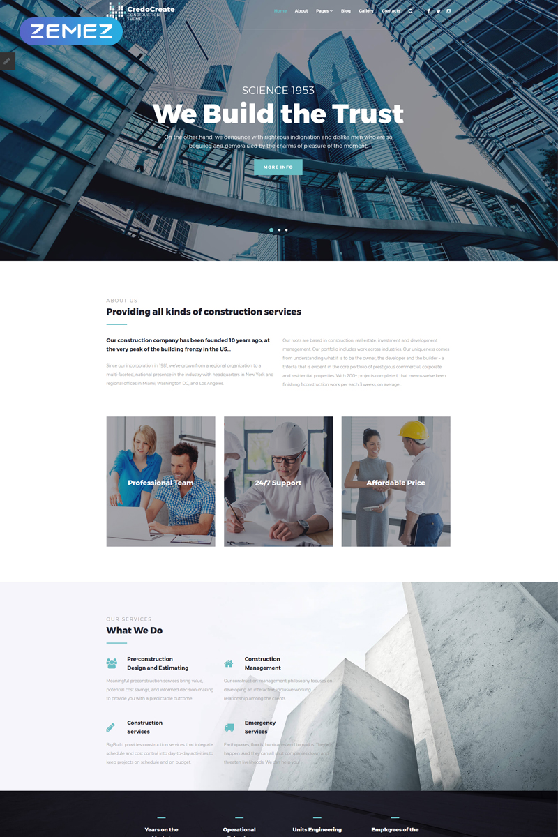 CreadoCreate - Construction Company Clean Joomla Template