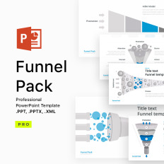 Zero downloads powerpoint templates templatemonster funnel pack microsoft pptx template toneelgroepblik Choice Image